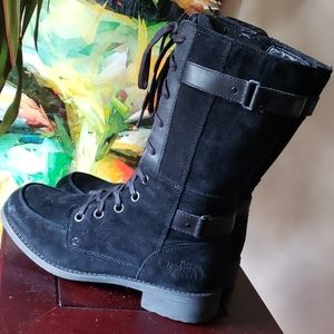 North Face waterproof moto / combat boots tall